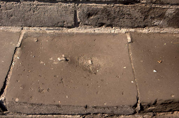 Evidence of the wear that the multitude upon multitude of feet shuffling these steps over the many centuries...