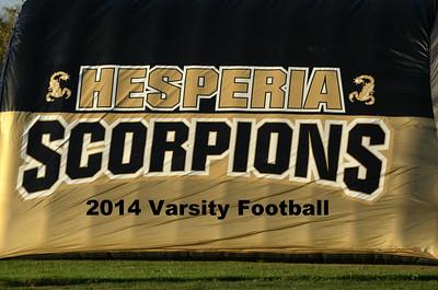Hesperia HS 2014 Varsity Football Game Images