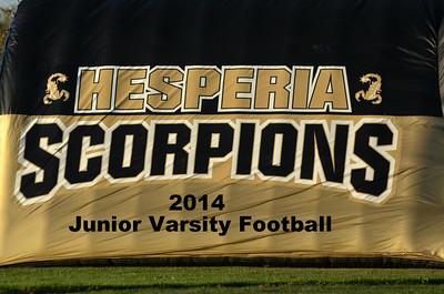 Hesperia 2014 JV Football Game Images